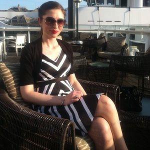 White House / Black Market stripe dress size 2